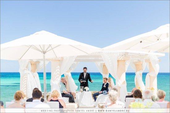 Son Servera, Spanje: Wedding ceremony in the pavillon of Port Verd del Mar