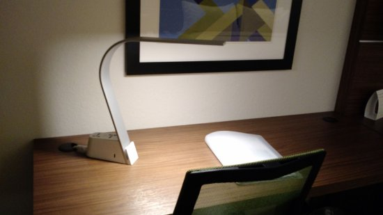 Very cool desk lamp Picture of Holiday Inn Express Suites