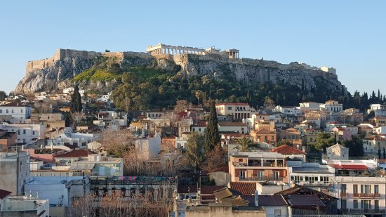 Plaka Hotel: View from Roof Terrace .1