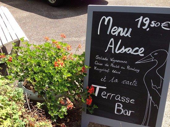 Husseren-les-Châteaux, France : Menu Alsace tous les midi