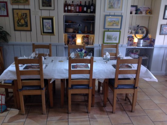 Vouvant, Francia: Table set for a private dinner
