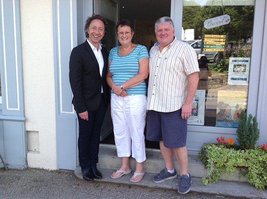 Vouvant, Francia: With Stephan Bern when he visited to film in the village