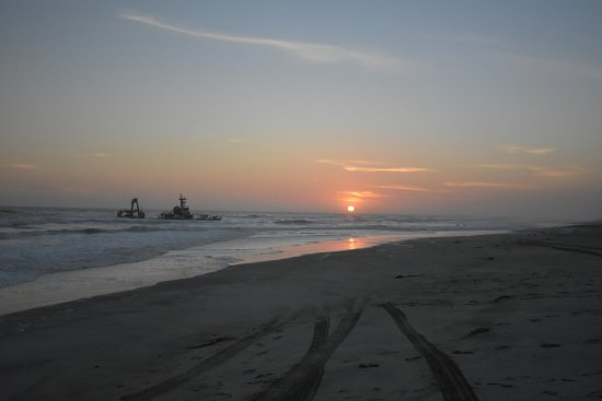 Hentiesbaai, Namibia: Zeila Wreck sunset
