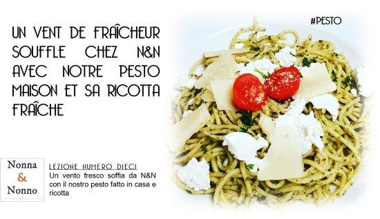 Noisy-le-Grand, Frankrig: Pasta pesto, une sauce faite maison fraiche et gourmande