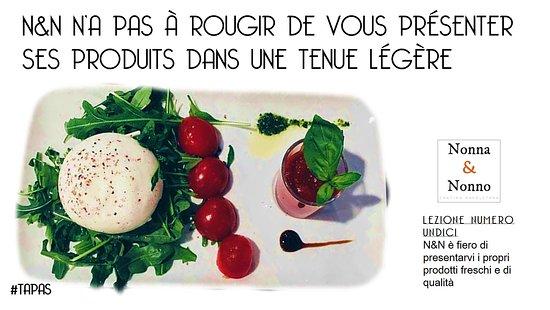 Noisy-le-Grand, Frankrig: Pour commencer le repas, un petit tapas italien...