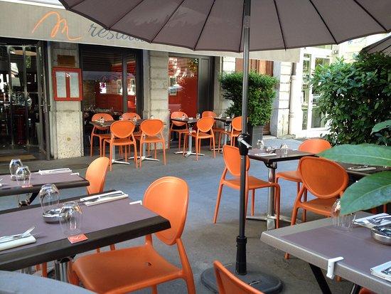 Terrasse picture of m restaurant lyon tripadvisor for Restaurant terrasse lyon