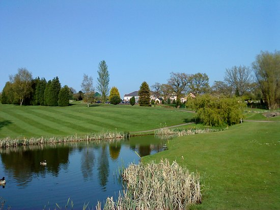 Cwmbran, UK: Pond and Fairway on the Fifteenth Green.