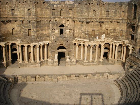 Bosra, Syrien: Stage and arena