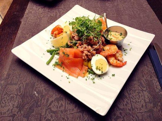 Lokeren, Бельгия: Heerlijke lekkers Salade De Postiljon!
