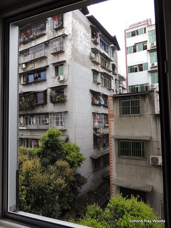 Ya'an, China: Back of the hotel view from the window. A quiet room! 517