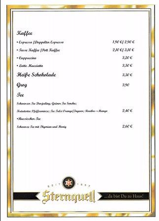 Tharandt, Tyskland: Unsere Speise und Getränkekarte