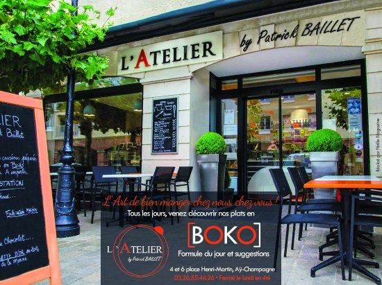 Ay, Frankrike: Notre terrasse pour déguster nos gourmandises sucrées et salées