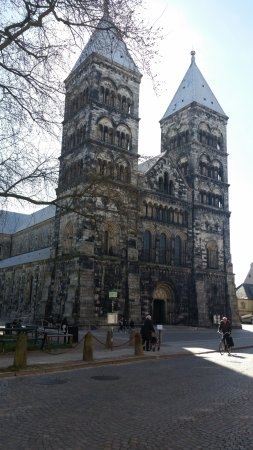 ลุนด์, สวีเดน: monumentalna katedrala i velika ne može stati u objektiv