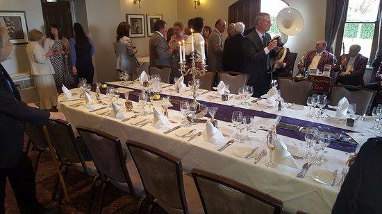 Nutfield, UK: 90th birthday lunch in the Fielden Suite