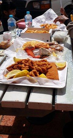 Chinderah, Australia: Family Meal Menu at Tweed River Seafood