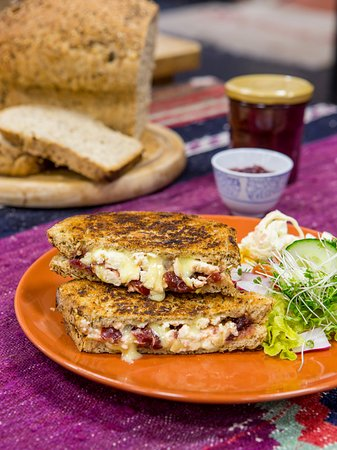 Hallatrow, UK: A very Special Sandwich with our gorgeous plum relish recipe as featured in the Bristol Cookbook