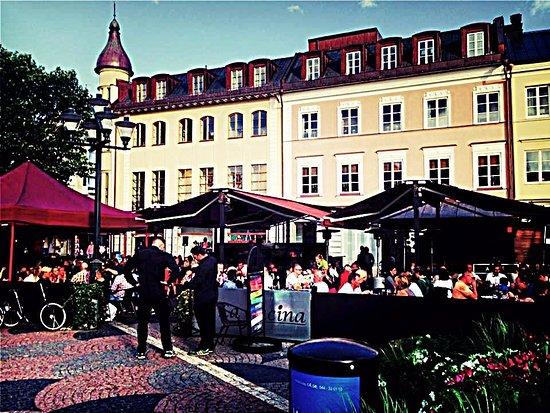 Kristianstad, Suecia: uteservering