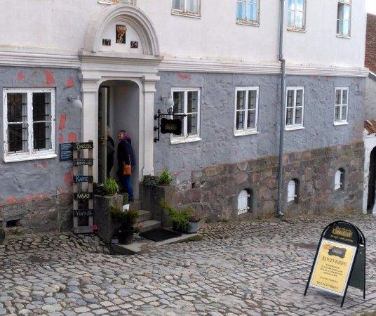 Halden, Norge: outside the Cafe