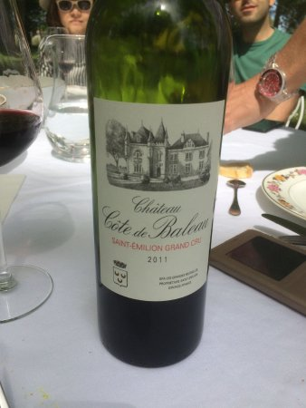 Bordovino Wine Tasting Day Tours : This was our favourite red from Chateau Baleau served with duck.