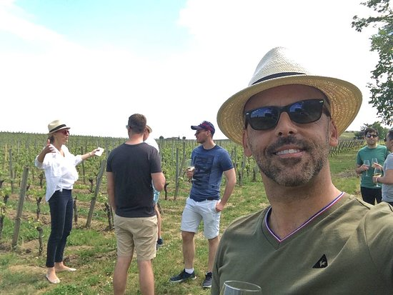 Bordovino Wine Tasting Day Tours : Berit giving us a lesson on wine making in the vineyard