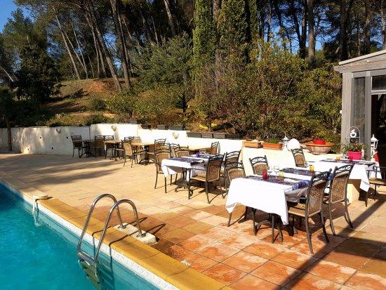 Très Bon Restaurant Avec Piscine Dans La Pinède   Avis De Voyageurs Sur Le  Mas Des Ecureuils, Aix En Provence   TripAdvisor