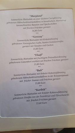 Dudenhofen, Germany: ein kleiner Einblick in die Salatkarte