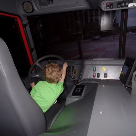 North Charleston and American LaFrance Fire Museum and Educational Center : The fire truck simulator