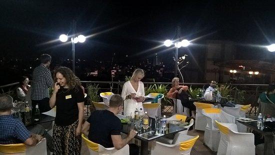 Surya Veg Restaurants (Hotel Supreme): Tables set for Business Dinner Meet