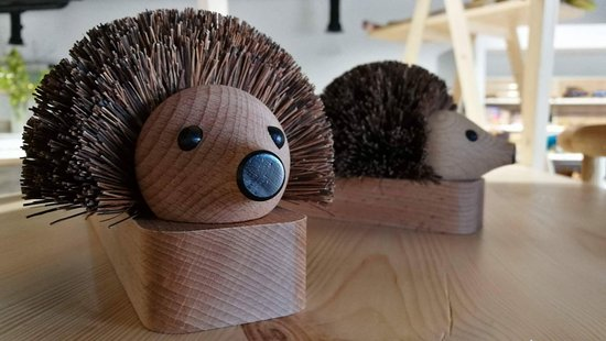 Mere, UK: Shoe cleaner hedgehog - available in our shop