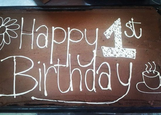 Durbanville, South Africa: Our first birthday cake!