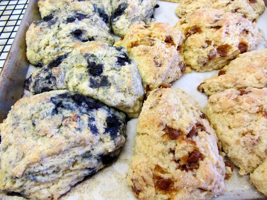 Marion, IA: Fresh-baked scones . . . right out of the oven.