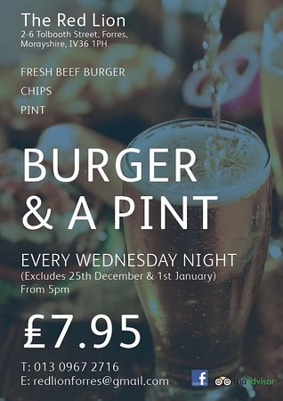 Forres, UK: Wednesday Night Deal 5-9pm