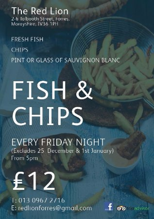 Forres, UK: Friday Night deal from 5-9pm