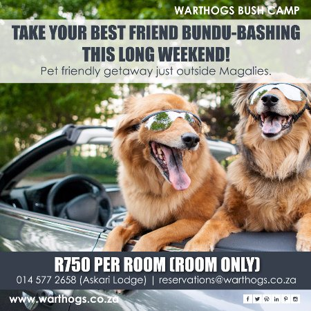 Magaliesburg, South Africa: Long weekend promotion 2017