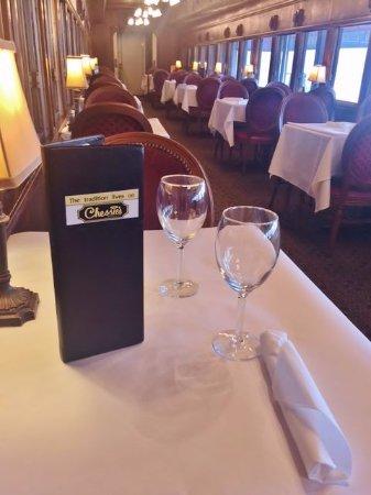 chessies restaurant train dining car
