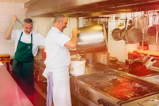 Suderburg, Tyskland: ein Blick in die Küche...