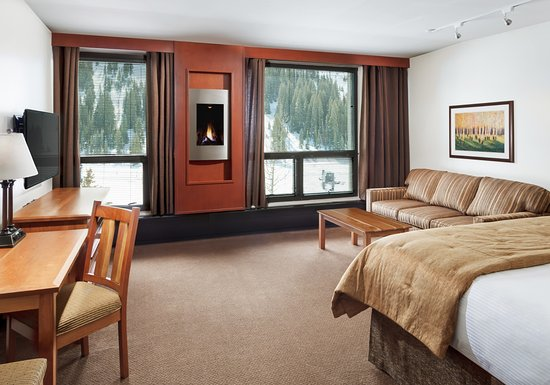 Alta, Юта: Alpenglow Room with King Bed and Queen Sofa Bed