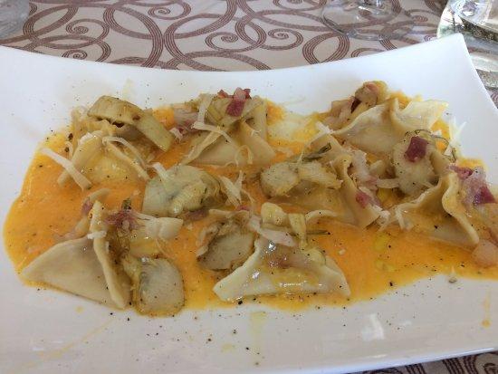 Paciano, Italia: Stuffed pasta