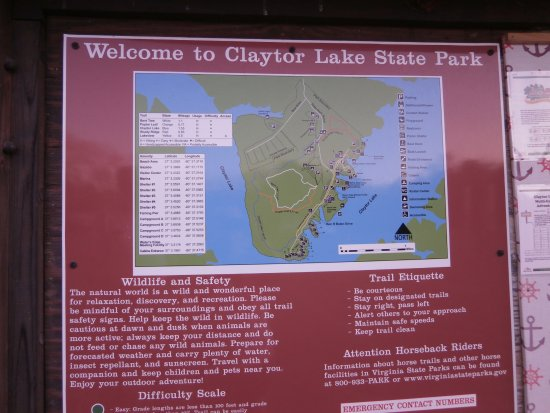 Claytor Lake State Park & Campsite map in Virginia - Picture of ...