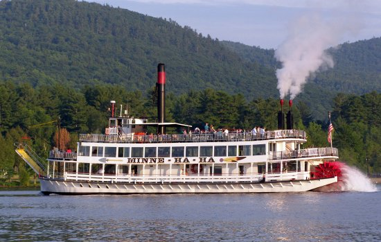 """Lake George Steamboat Company: Minne Ha Ha means """"Laughing Waters"""". A genuine sternwheel steamboat loved by all!"""
