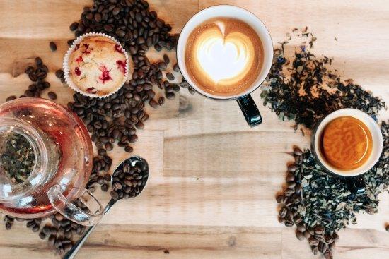 Rheineck, Schweiz: Cappuccinos und Espresso