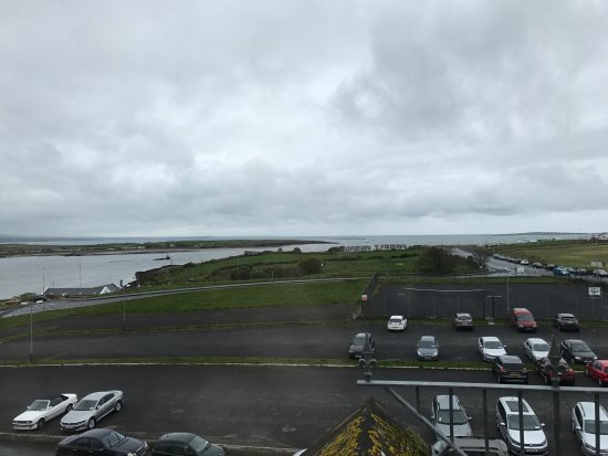 Rosses Point, Ireland: View from 4th floor room towards ocean