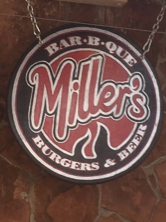 Lafayette, CO: Miller's sign (on their outdoor patio)
