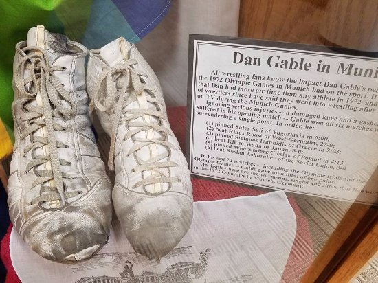 Waterloo, IA: Dan Gable shoes worn at the 1972 Munich Olympics
