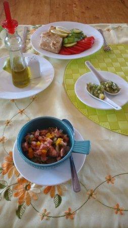 Melinka, Chile: Ceviche y congrio a la Plancha