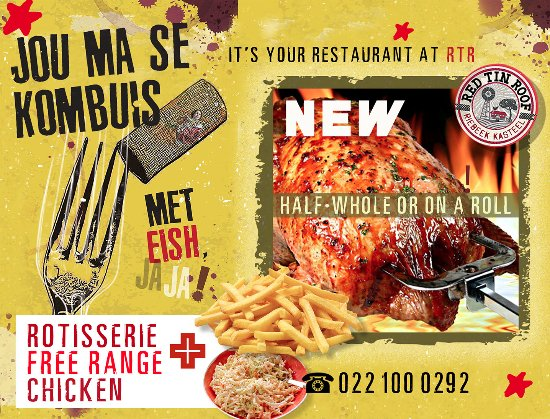 Riebeek Kasteel, South Africa: Its a must eat. Our rotisserie chicken beats them all. Book to order