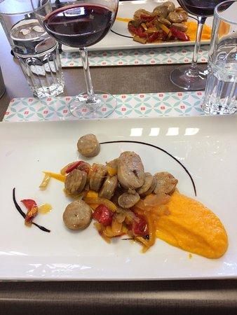 Saint-Seurin-de-Cadourne, Frankrike: Nota menu de jour (à différencier des menus plus gastronomiques) Bien présenté mais Les  plats s