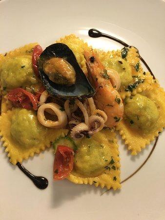 Civita Castellana, Italy: Ravioli di pesce