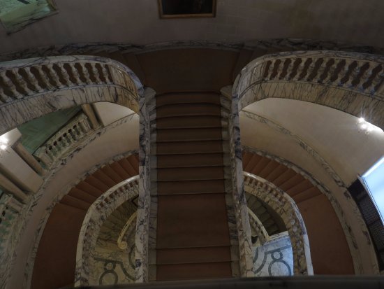 The National Museum of Art of Romania : Staircases on the European side.