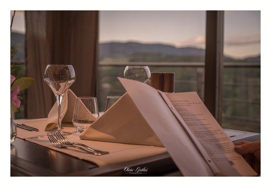 Lapoutroie, Francia: Le restaurant, la vue!